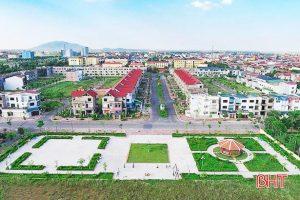 Một dự án bất động sản ở trung tâm Thành phố Hà Tĩnh. Nguồn: baohatinh.vn